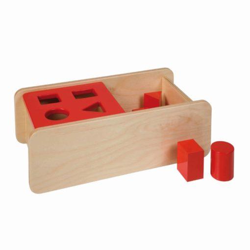Imbucare box with flip lid - 4 shapes - Nienhuis Montessori
