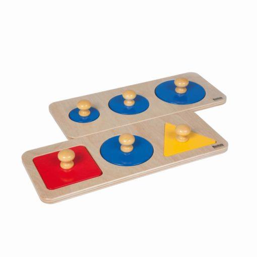 Multiple shape puzzle set_Nienhuis Montessori