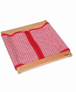 Infant / Toddler dressing frame: 3 buttons_Nienhuis Montessori