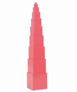 The pink tower - Nienhuis Montessori