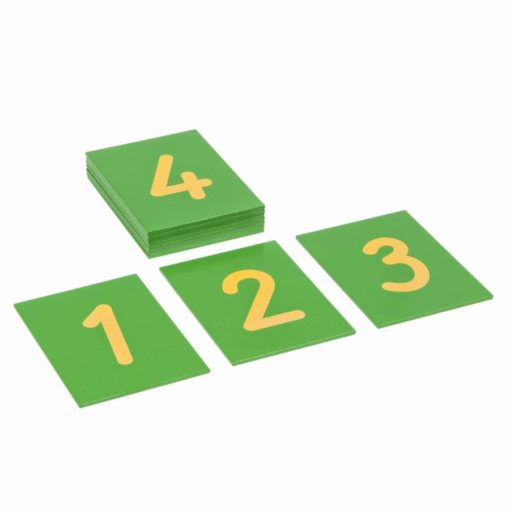 Sandpaper numerals: international version - Nienhuis Montessori