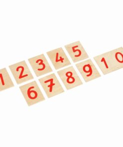 Printed numerals: international version - Nienhuis Montessori