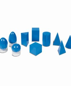 The geometric solids - Nienhuis Montessori
