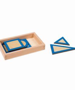 Formes géométriques planes avec boite - Nienhuis Montessori