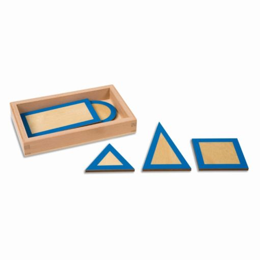 Geometric plane figures with box - Nienhuis Montessori
