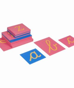 Montessori language material Sandpaper letters: international cursive - Nienhuis Montessori