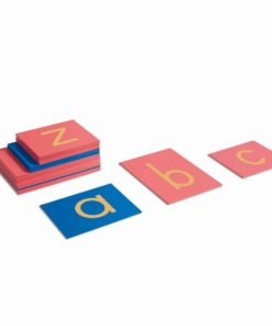 Montessori language material Sandpaper letters: international print - Nienhuis Montessori