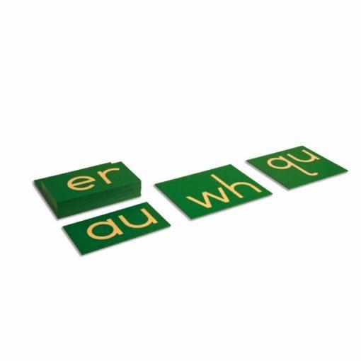 Double sandpaper letters: international print - Nienhuis Montessori