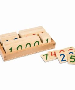 Wooden number cards: small 1-9000 - Nienhuis Montessori