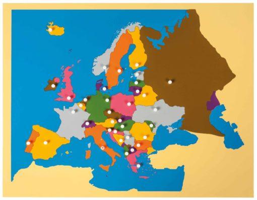 Puzzle map: Europe - Nienhuis Montessori