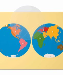 Puzzle map: world parts - Nienhuis Montessori