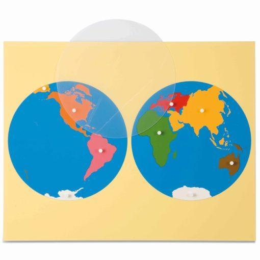 Puzzle map: world parts - Nienhuis Montessori