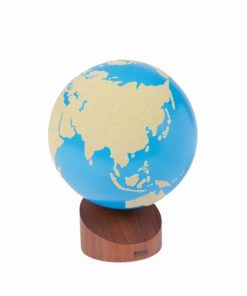 Globe of land & water: sandpaper - Nienhuis Montessori