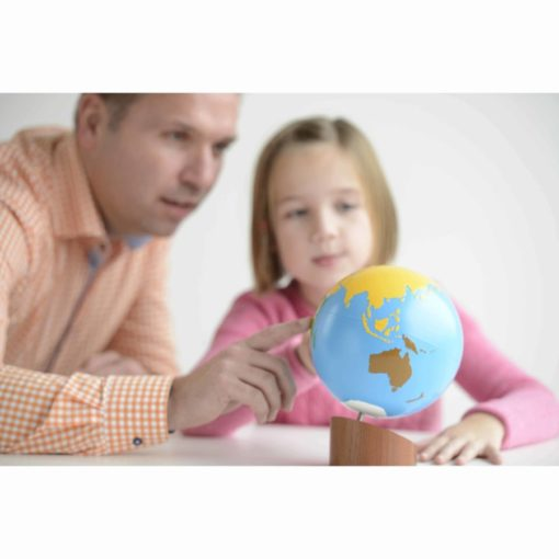 Globe of the continents: colored - Nienhuis Montessori