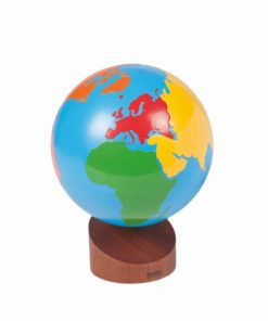 Montessori geography material Globe of the continents: colored - Nienhuis Montessori