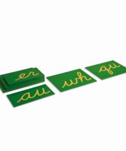 Phonogrammes anglais en lettres rugueuses, écriture cursive USA - Nienhuis Montessori