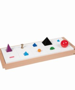 3D wooden grammar symbols: set of 10 with tray - Nienhuis Montessori