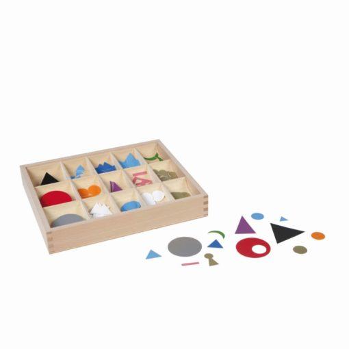 Plastic grammar symbols in box - Nienhuis Montessori