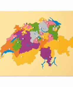 Puzzle map: Switzerland - Nienhuis Montessori