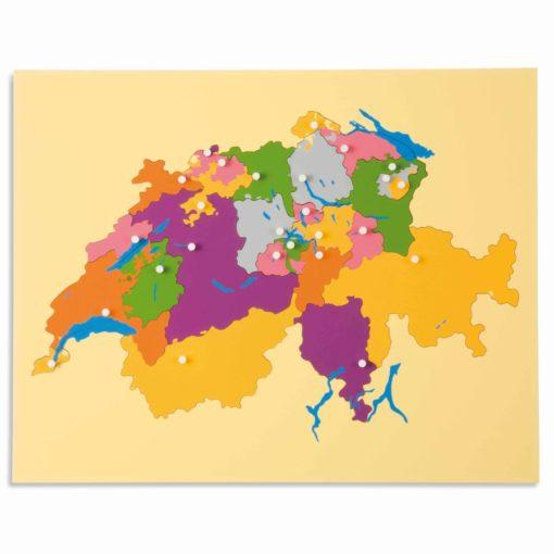 Puzzle map: Switzerland - Nienhuis Montessori