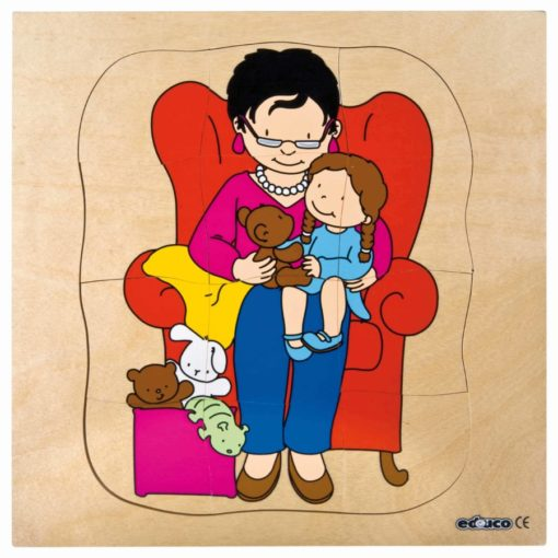 Growth/Life cycle puzzle grandmother - Educo