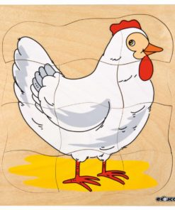 Growth/Life cycle puzzle chicken - Educo