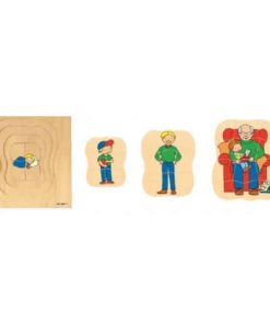 Growth/Life cycle puzzle grandfather - Educo