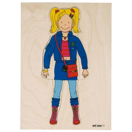 Getting dressed puzzle girl - Educo