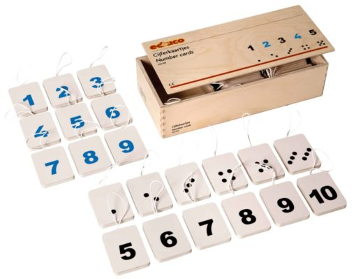 Wooden number cards - Educo