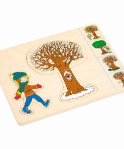 Seasons puzzle in 4 layers - Educo