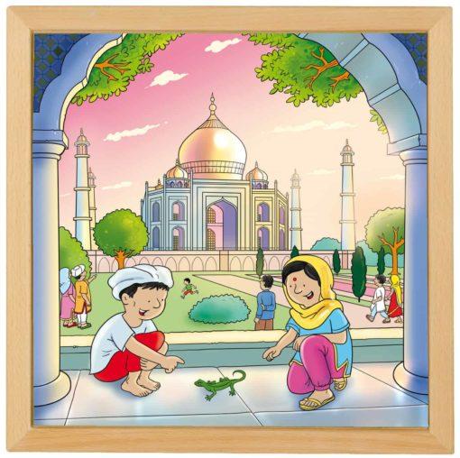 Wonders of the world puzzle: Taj Mahal - Educo