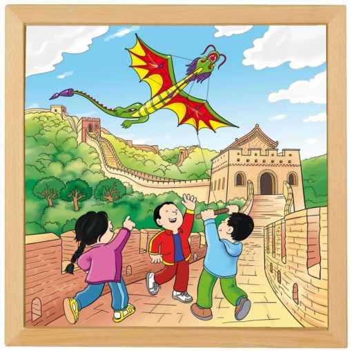 Wonders of the world puzzle: Chinese Wall - Educo