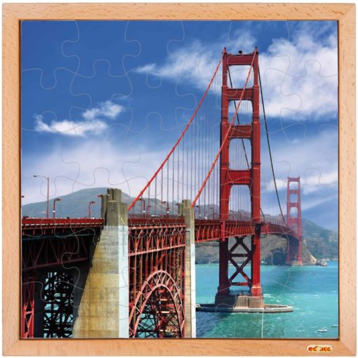 USA puzzle: the Golden Gate Bridge - Educo