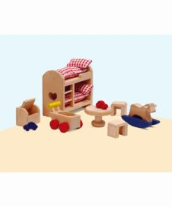 Dolls house furniture: children's bedroom - Educo