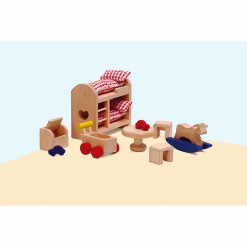 Dolls house furniture: children's bedroom - Educo