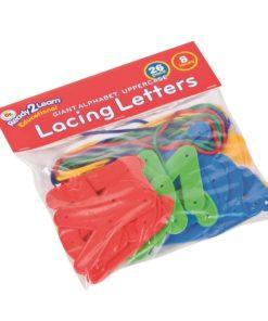 Upper case lacing letters - Arts & Crafts