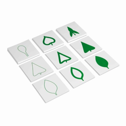 Cartes des formes de feuilles - Nienhuis Montessori