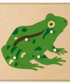 Animal puzzle: frog - Nienhuis Montessori