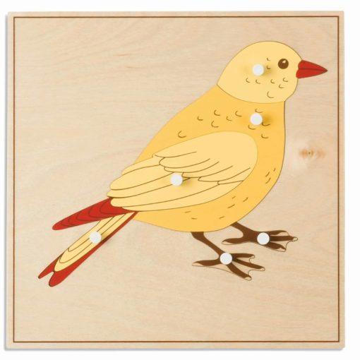 Animal puzzle: bird - Nienhuis Montessori