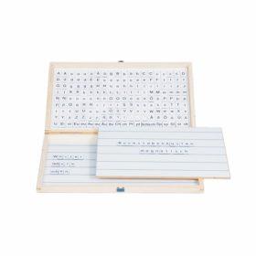 Printed alphabet: US cursive, blue - Nienhuis Montessori