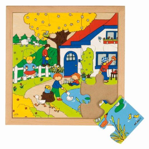 Seasons puzzle: spring (9 pieces) - Educo