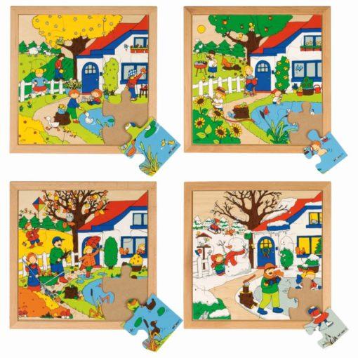 Seasons puzzles - Educo