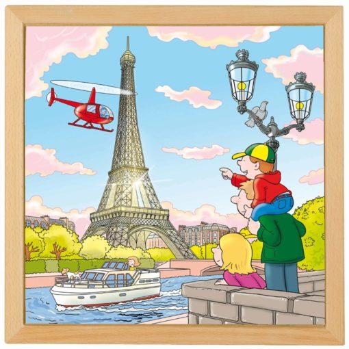 Puzzle les villes d'Europe, la tour Eiffel à Paris - Educo