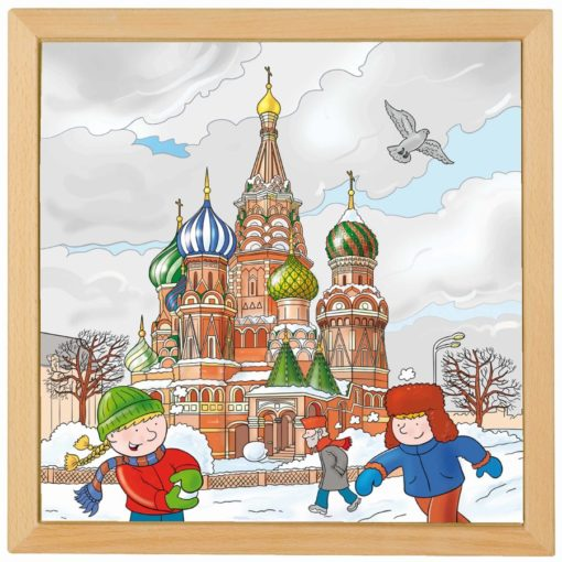 European cities puzzle: Moscow - Educo