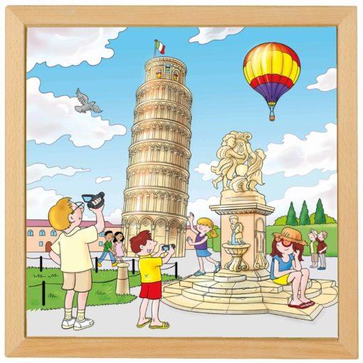 European cities puzzle: Pisa - Educo