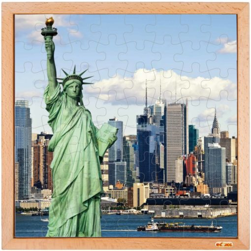 USA puzzle: Statue of liberty - Educo