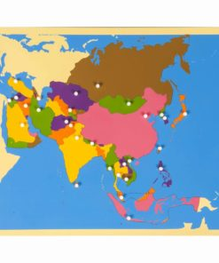 Puzzle map of Asia - Nienhuis Montessori