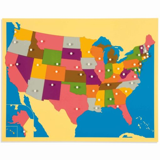 Puzzle map of United States - Nienhuis Montessori