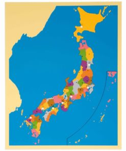 Puzzle map of Japan - Nienhuis Montessori