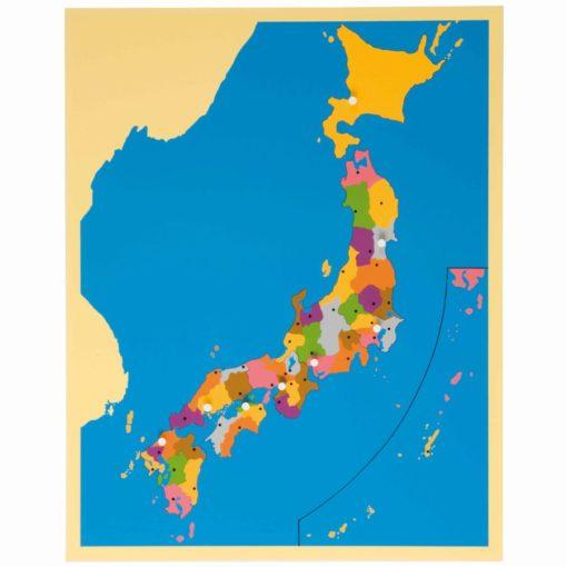 Puzzle map of Japan - Nienhuis Montessori